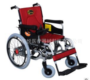 慈悦科技大轮电动轮椅 老年残疾人代步自动刹车轻便折叠轮椅