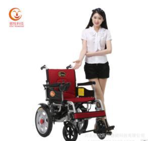 慈悦厂家直销电动轮椅轻便可折叠四轮老年代步车厂手电一体