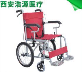 喷塑钢管16老年轮椅 西安加厚靠背轮椅 便携运动轮椅