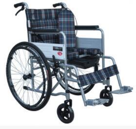 折叠轻便钢管轮椅车 医疗老年人残疾人轮椅