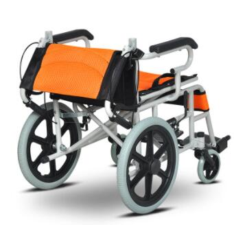 加厚老人轮椅折叠轻便便携 超轻老年轮椅车
