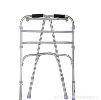 老人可折叠助行器 不锈钢残疾人助步器