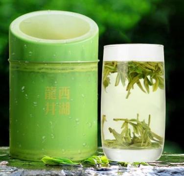 绿茶 龙井 2017西湖龙井防竹罐装 茶农直销雨前茶叶批发 特产