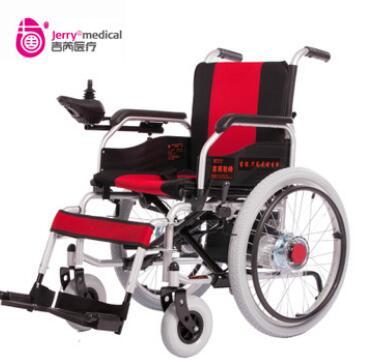 吉芮电动轮椅可折叠轻便老人手推车老年人残疾人便携轮椅车代步车