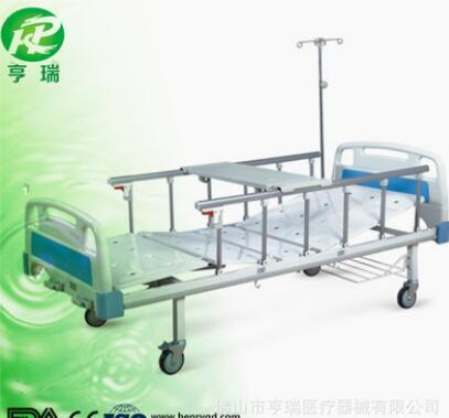 厂家直销医院诊所医疗病床手动二功能护理床双摇床