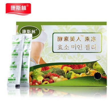 康斯林特强效酵素果冻左旋瘦身顽固型快速减肚燃脂抑制食欲