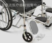 加厚钢管轮椅折叠轻便带坐便老人便携轮椅轮椅