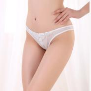 性感女士情趣内衣网纱透明珍珠挂链低腰开裆丁字裤