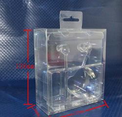 深圳18年厂家 现货供应尺寸136*122*48mm透明耳机PET包装盒