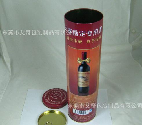 专业包装酒罐 葡萄酒罐 红酒白酒罐铁盒包装 tinbox