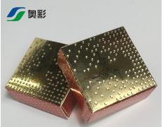 新款金卡纸盒滴珠工艺化妆品纸盒艾灸礼盒印刷包装盒UV磨砂定做