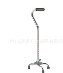 老年人康复辅助小型四脚医用拐杖铝合金防滑结实伸缩老字号厂直销