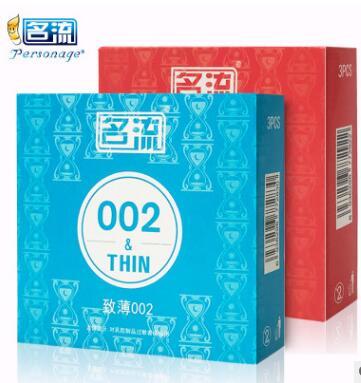 名流G点大颗粒致薄002安全套避孕套3只装超薄成人情趣性计生用品