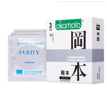 冈本skin纯3只装避孕套超薄持久安全套成人情趣用品酒店批发代发