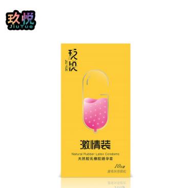 玖悦 安全套厂家 大颗粒狼牙套避孕套批发 成人用品 一件代发