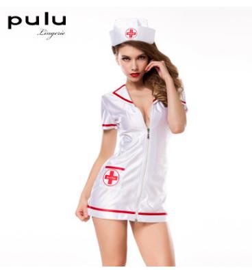 pulu情趣内衣 情趣制服 白色护士cosplay装 带帽子 支持代发混批