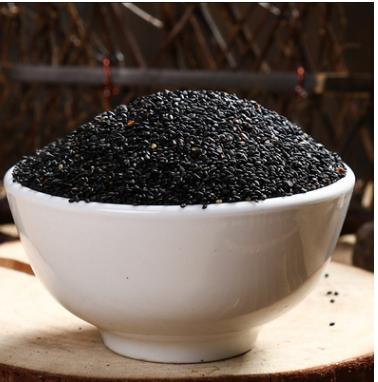 黑土地种植五谷杂粮 无染色低温烘焙小粒黑芝麻散装批发