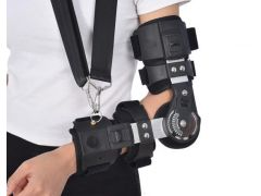 康兴达卡盘支具可调长度式肘部关节固定支具肘关节训练手臂透气前臂吊带固定护具 左手